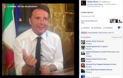 Renzi in chat facebook