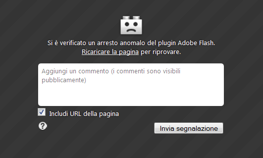 Flash player bloccato